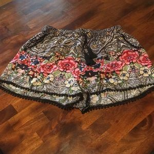 Angie floral patterned shorts from Anthropologie